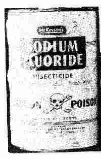 Picture of a can of SODIUM FLUORIDE rat poison