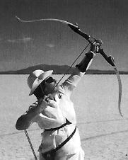 Livvy Stewart shooting in the Target bow class, Nevada 1997
